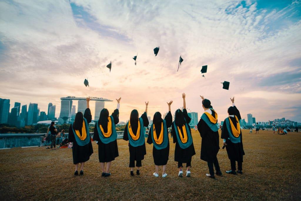 University students in Singapore