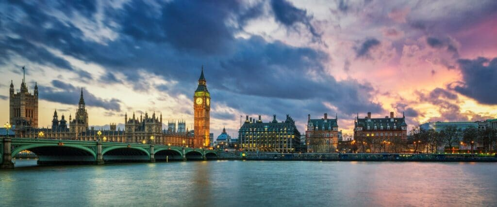 Image of UK Parliament and London Clock
